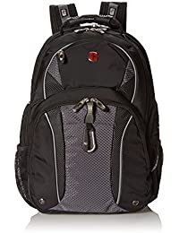SA3253 Black with Gray TSA Friendly ScanSmart Laptop Backpack - Fits Most 15 Inch Laptops and Tablets