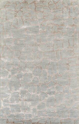 Momeni Rugs Zen Collection, Wool Banana Silk Hand Tufted Contemporary Area Rug, 5 x 8 , Seafoam