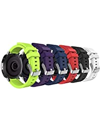 Gear Sport / Gear S2 Classic Watch Band, MoKo [6-PACK] 20mm Soft Silicone Strap for Samsung Gear Sport SM-R600 / Gear S2 Classic Smartwatch, Multi Colors