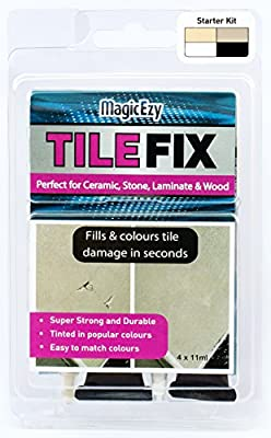 MagicEzy Tile Fix - (Fill & color chips & cracks in tiles in one application)
