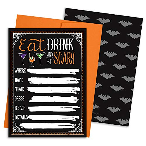 Invitations Halloween Party (Halloween Party Invitations - 12 Cards with)