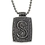 Trove of Valhalla Urnes Snake for Skill and Ingenuity Viking Nordic Charm Amulet Talisman Pendant