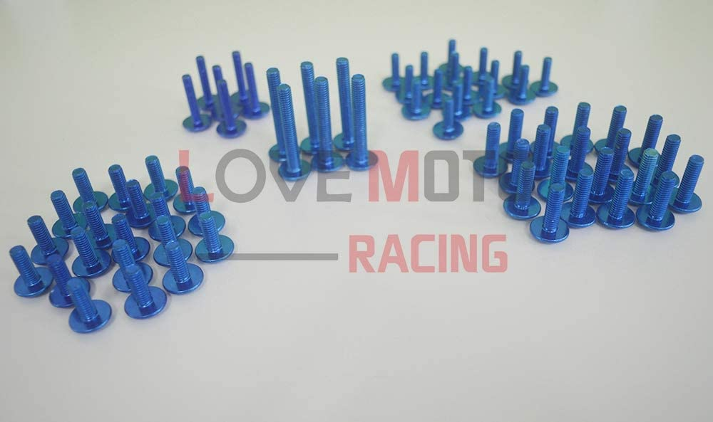 1000 F 97-05 VTR 1000 F 1997-2005 Agrafes de fixation pour vis alu Argent LoveMoto Jeux de visserie complets pour car/énages moto pour VTR