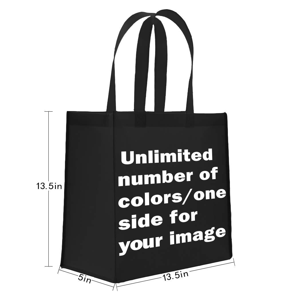 DAFUN Promo Bags with Your Logo/Image(Unlimited Colors) 100 Quantity Customized - 13.5''L x5''W x13.5''H with 22''Handles by DAFUN