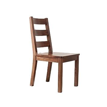 LHA Seat Massivholz Esszimmerstuhl Voll Eiche Stuhl Esstisch Esszimmer  Möbel Modern Minimalist (Farbe : Nussbaum