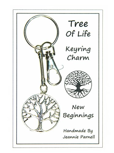W026 – Tree of Life Charm Keyring – New Beginnings – Handmade by Jeannieparnell