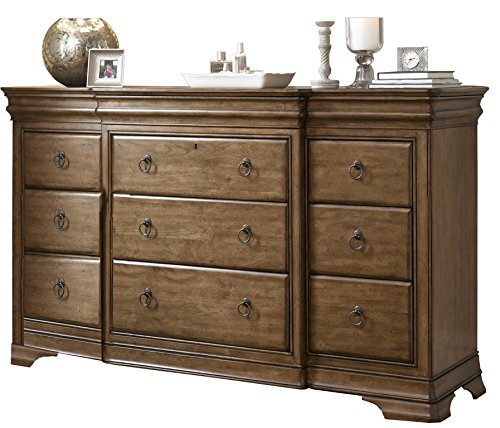 product reviews buy pennsylvania house solid wood triple dresser with storage mirror. Black Bedroom Furniture Sets. Home Design Ideas