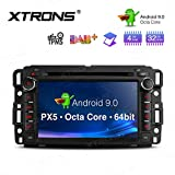 XTRONS 7' Android 9.0 Octa Core 4G RAM 32G ROM HD Digital Multi-Touch Screen OBD2 DVR Car Stereo DVD Player Supports Tire Pressure Monitoring WiFi OBD2 for Chevrolet GMC Hummer