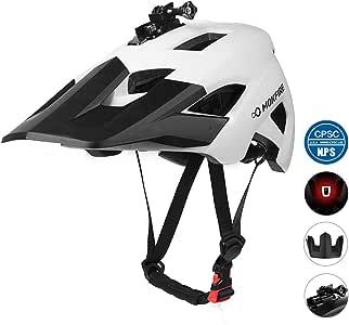MOKFIRE Casco de bicicleta de montaña – Visera solar desmontable ...