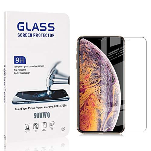 SONWO Schutzfolie für iPhone 11 Pro Max, 2 Stück PanzerglasFolie Schutzfolie für iPhone 11 Pro Max, 9H Härte, Anti-Öl, Anti-Bläschen, Anti-Kratzen