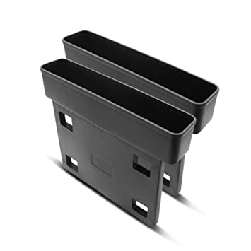 seasaleshop Autositz Tasche Schlitz Tasche Gap Catcher Aufbewahrungsbox Ablagefach Autozubeh/ör Geeignet f/ür die meisten Autos Schwarz