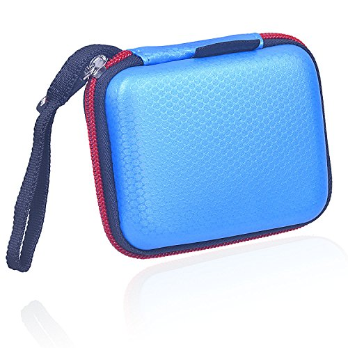Rancco Hard EVA Travel Carrying Storage Protective Case for Samsung T5/ T3/ T1 SSD, Water-Resistant Shockproof Carry Pouch for Samsung T5/ T3/ T1 SSD Hard Drive(250G 500G 1T (Size Laptop Hard Drives)