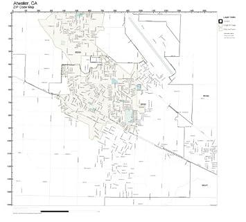 Amazon.com: ZIP Code Wall Map of Atwater, CA ZIP Code Map