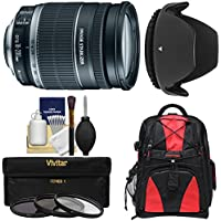 Canon EF-S 18-200mm f/3.5-5.6 IS Zoom Lens with Backpack + 3 UV/CPL/ND8 Filters + Hood + Kit for EOS 7D, 70D, Rebel T3, T3i, T5, T5i, SL1 DSLR Camera