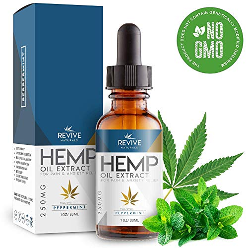 Organic Hemp Oil for Pain-Relief - 250MG - Peppermint Flavored, Helps Reduce Stress & Anxiety, Blended with Organic Hemp Seed Oil for Optimal Absorption, Rich in Omega 3 6 9 Fatty Acids.