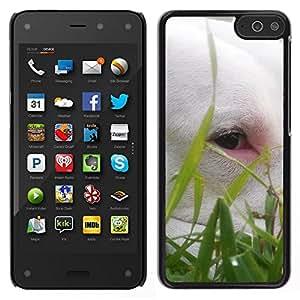 EJOY---Cubierta de la caja de protección para la piel dura ** Amazon Fire Phone ** --Bullterrier lindo Hierba Perro Verano mascotas
