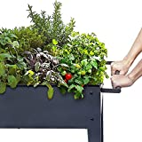 FOYUEE Raised Planter Box with Legs Outdoor