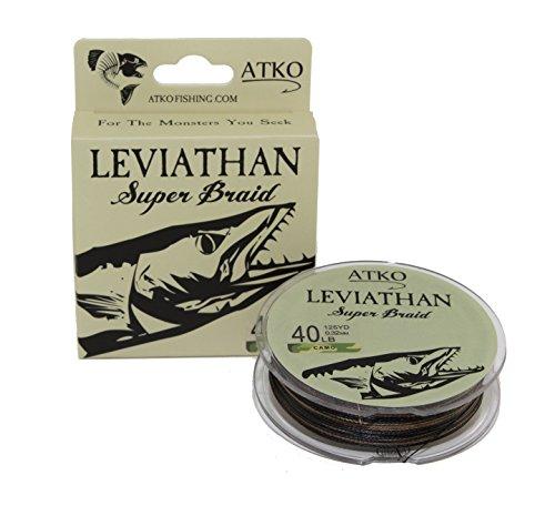 Atko Leviathan Braided Fishing Line- Premium Performance Super Braid (Camo, 40lb/125)