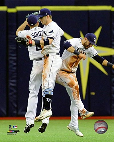 "Steven Souza, Corey Dickerson, & Kevin Kiermaier Tampa Bay Rays 2017 MLB Action Photo (Size: 20"" x 24"")"