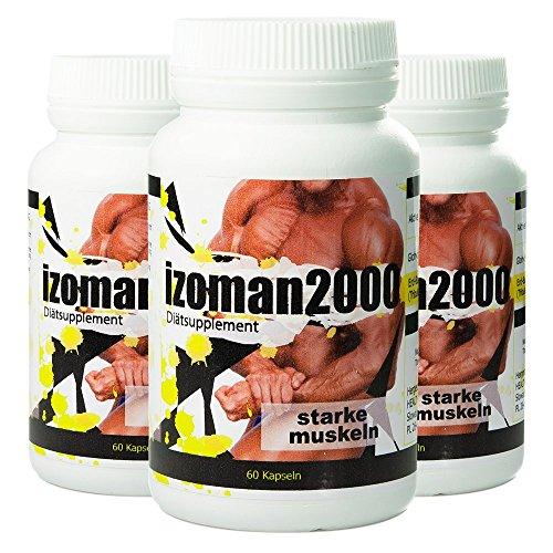 IZOMAN 2000 180 Kapseln - schneller Muskelmasse aufbauen - Muskelaufbau - LEGALE LEGITIME STEROIDE Tribulus Terrestris: Glohydroxytribolan fortis