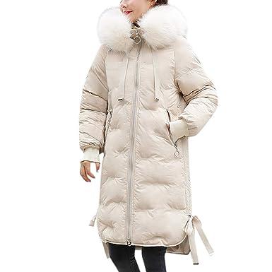 Dames Femmes Casual Mode Hiver Chaud Fourrure À Capuche Manteau Long Coton Rembourré Vestes Manteaux De Poche