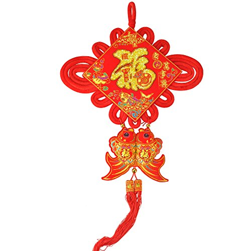 KI Store Chinese Knot Tassel New Year Decoration 2018 Traditional Red Lucky Oriental Pendant Ornaments for Spring Festival, Lunar New Year (Decorations For New Years)