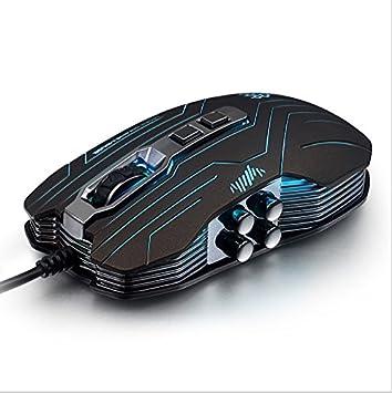 Ratones Rama G5 Vibración Juego con Cable programable Macro ...