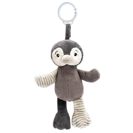 My Teddy My Newborn Sonajero Clip Pingüino Gris - Sonajero Clip On ...