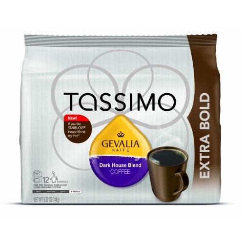 Gevalia Dark House Blend, 12-Count T-Discs for Tassimo Coffeemakers(Pack of 2) T-Discs Sale