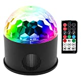 Party Lights, DJ Lights, Stage Lights, Disco Ball Lights, Onedayshop Bluetooth Speaker Lights, 9 Colours Sound Activated Strobe Magic Led Stage Lights, Bluetooth Wireless Connection, Powered By USB Charging with Remote Control for Wedding Christmas Party KTV Club Pub Show Nightclub Karaoke Bar Accessories
