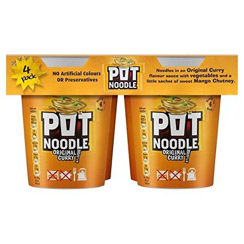 Pot Noodle 4 Pack Original Curry 360G