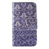 UNEXTATI Galaxy J5, Premium PU Wallet Case + Cover for Samsung Galaxy J5, Slim-Fit Leather Flip Case with Card-Slot, Magnet Closure (P10 Blue)