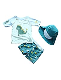 Baby Toddler Boys Two Pieces Swimsuit Swimwear Rash Guards