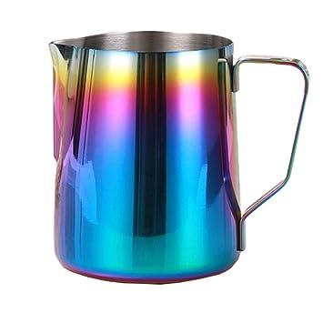 Jarra de espuma de leche de 12 oz/20 oz, jarra de acero inoxidable para café ...