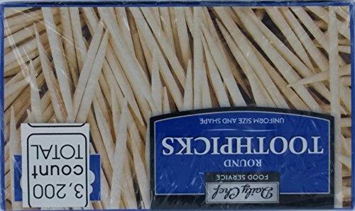 Daily Chef Service Round Toothpicks