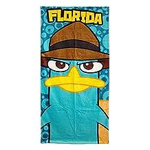 Disney Perry The Platypus Beach or Bath Towel - Florida Print