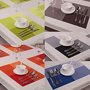 Amazon Com Lariy Fashion Pvc Coasters Kitchen Mat Dining