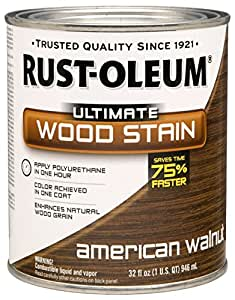Rust-Oleum 260148 Ultimate Wood Stain, Quart, American Walnut - 2 Pack