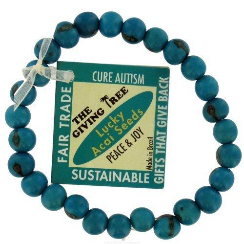 Zorbitz Giving Tree Acai Seed Cure Autism Bracelet, Blue by Zorbitz Inc.
