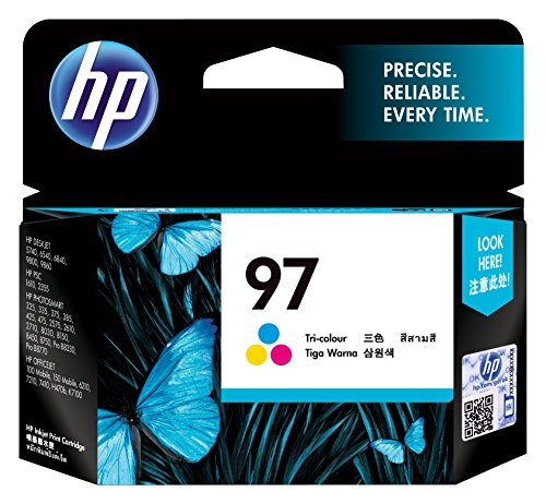 HP 97 Large Tri-color Inkjet Print Cartridge (C9363WN) (Hp No 15 Twin)