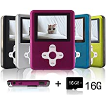 Lecmal Micro SD Card, Economic Multifunctional Music Player with Mini USB Port, MP3 Voice Recorder, Media Player for Kids-16G-Pink