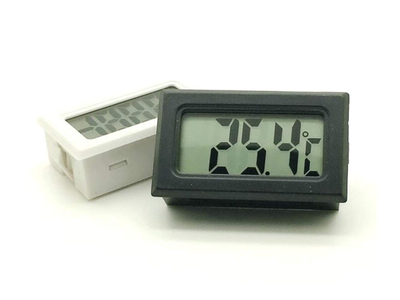 QWhing Creativo Calibro del misuratore di umidita per interni misuratore di umidit/à del termometro digitale incorporato mini Accessori per la casa nero