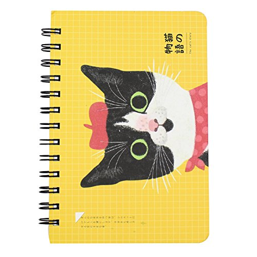 "7.4"" x 5.3"", Cute Cat Spiral Notebook Notepads Desk Calendar Scheduler Weekly Planner Pad, 58 Sheets/116 Pagess - Spiral Cat"