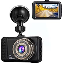 """Dash Cam,Hliwoynes 3.0"""" Screen,170 Degree Wide Angle,Full HD 1080P, Car dashboard Camera, Vehicle On-dash Video Recorder Camcorder with G-Sensor, Loop Recording,Night Vision (Black)"""