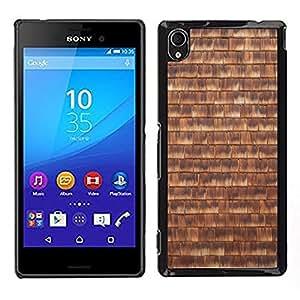Print Motif Coque de protection Case Cover // M00157137 Grano de madera textura de la pared de // Sony Xperia M4 Aqua
