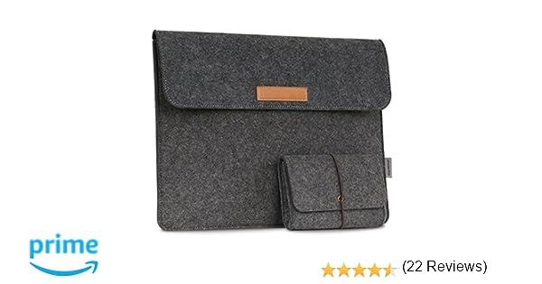 MoKo Funda Portátil Universal Protectora de Fieltro de 13.5 Inch Compatible con Surface Laptop 2 / Surface Book 2 13.5