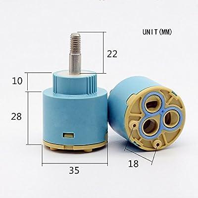 Wovier Replacement Single Handle Faucet Cartridge Ceramic Disc Valve 35mm Diameter