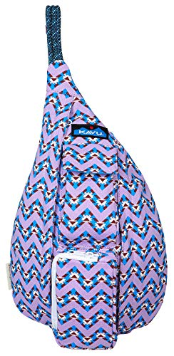 - KAVU Mini Rope Bag Cotton Crossbody Sling Backpack  - Jewel Chevron