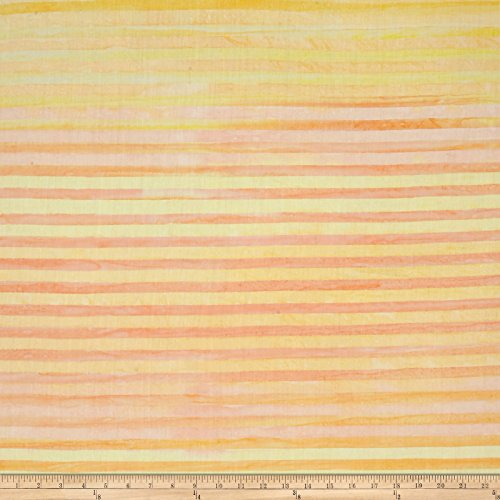 Robert Kaufman Batiks Elementals Stripes Sunshine Fabric by The Yard