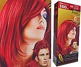Bleaching Hair Orange - Premium Permanent Hair Color Cream Dye Red 8/6 Punk Goth XXL (equals 2 Dye Boxes !) by Farger